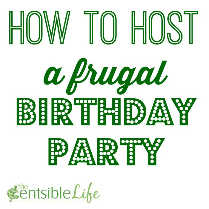 how to host a frugal birthday party
