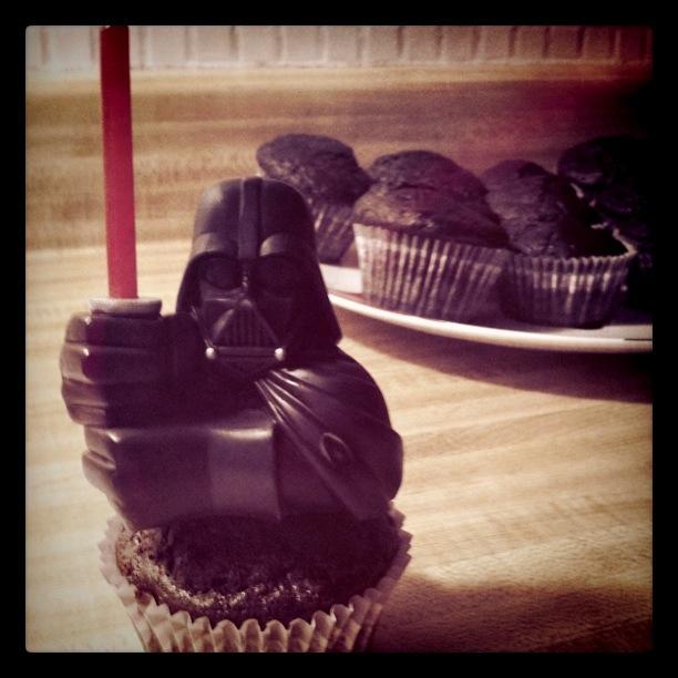 Darth Vader and birthday cupcakes