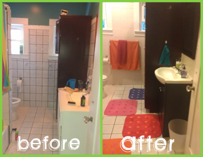 Bathroom Makeover Paint Tiles painting tile walls in bathroom. how to paint over ugly old tile