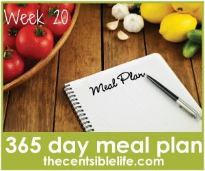 365 Day Meal Plan: Week 20