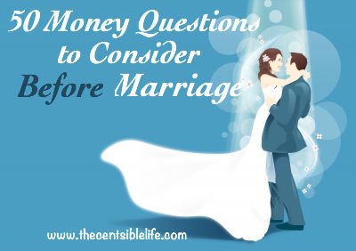 50 Money Questions to Consider Before Mar