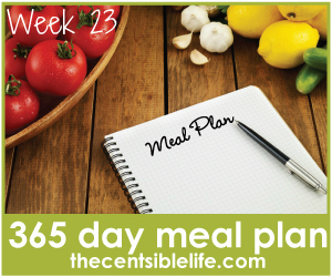 365 Day Meal Plan: Week 23 Menu