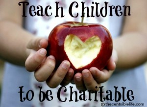 Teach Children to be Charitable