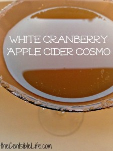 White Cranberry Apple Cider Cosmo