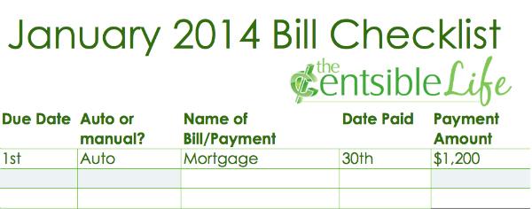 Bill Checklist 2014