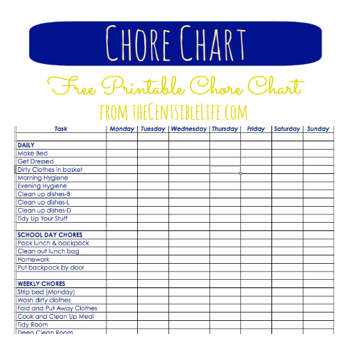 House cleaning house cleaning free kids chore list printable for Allowance chart template
