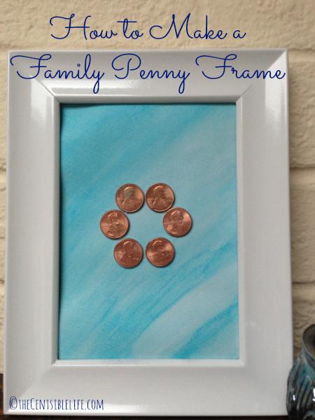 Family Penny Frame