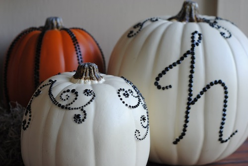 DIY Sequined Pumpkins