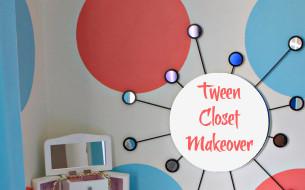 Tween closet makeover