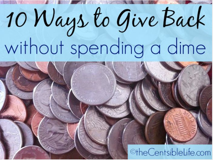 10 Ways to Give Back without spending a dime