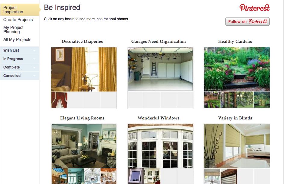 Inspiration Boards HomeZada