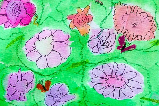 child's flower art