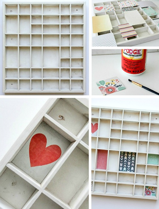 how to upcycle a letterpress tray