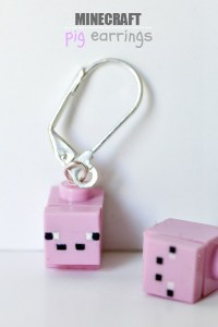 DIY LEGO Minecraft earrings tutorial