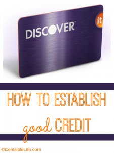 how to establish good credit