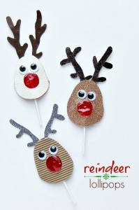 reindeer lollipops