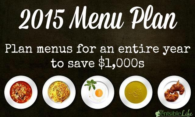 2015 Menu Plan