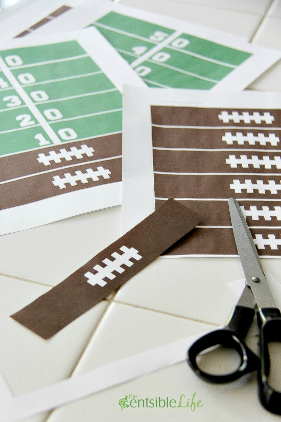 Cut Game Day Paper Chain
