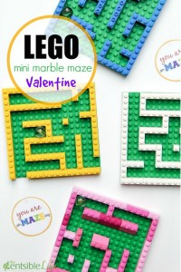 LEGO Mini Marble Maze Valentine for Kids