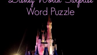 Disney World Surprise Word Puzzle