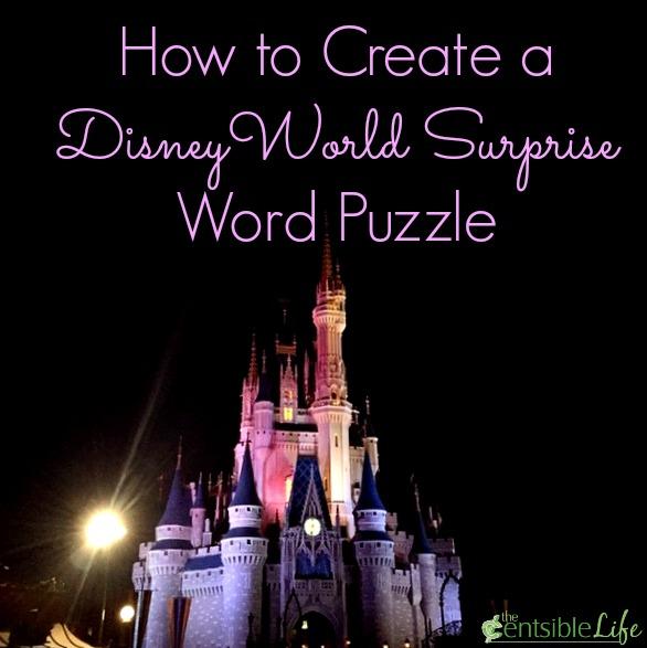 Disney World Surprise Word Puzzle