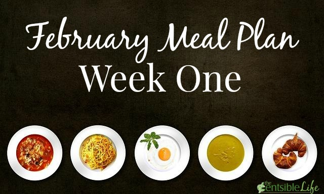 February Week One Meal Plan