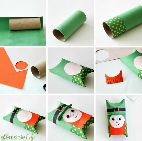 St. Patrick's Day: Paper Roll Leprechaun Craft