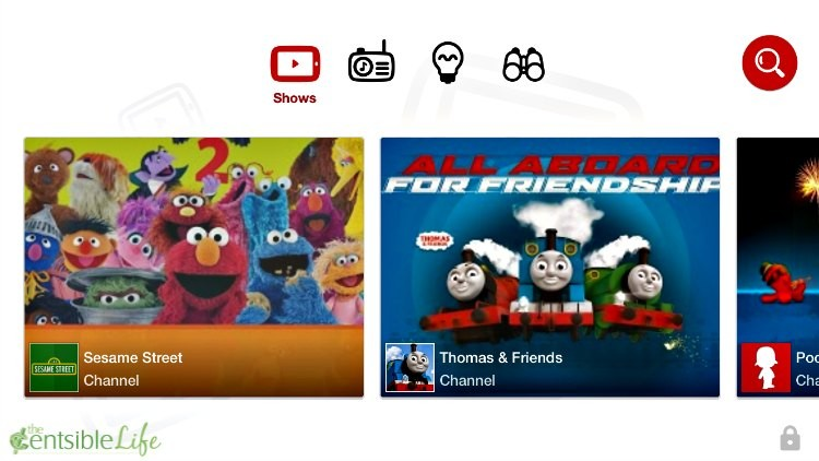YouTube for Kids Homepage