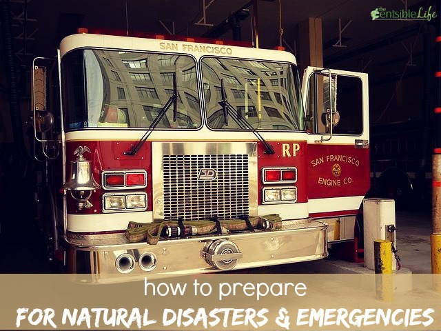 how to prepare for natural disasters and emergencies