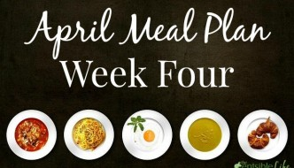 April Meal Plan week four