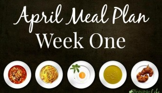 April Meal Plan week one