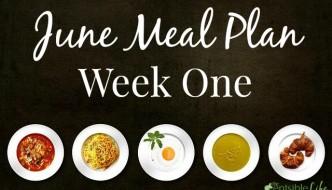 June Meal Plan week one