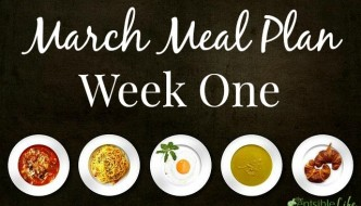 March Meal Plan week one