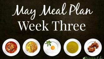 May Meal Plan week three