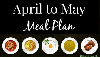 April to May Meal Plan