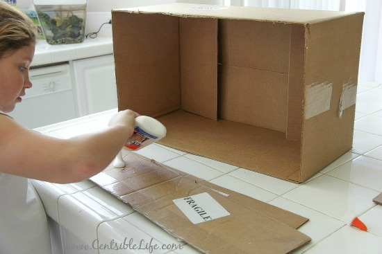 cardboard box craft for kids