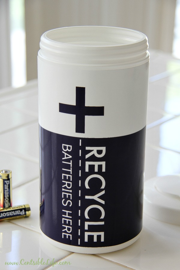 how to make a battery recycling container