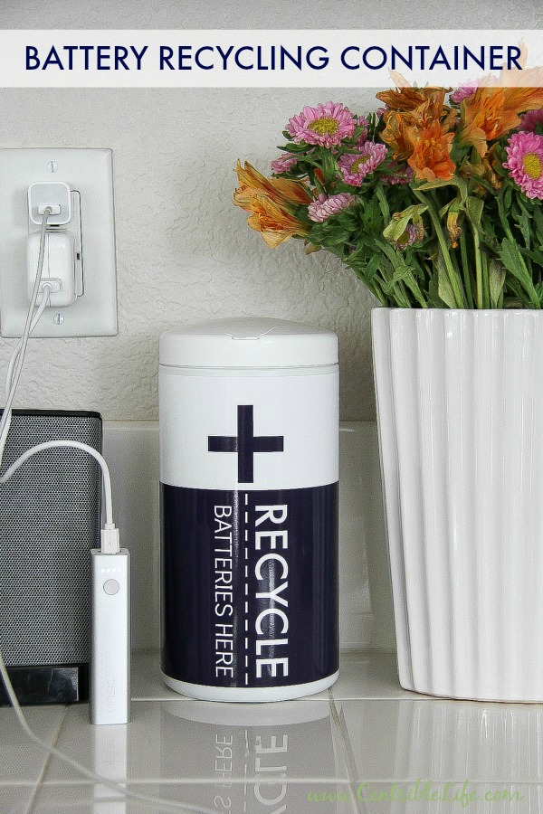 A battery recyling container and printable | centsiblelife.com