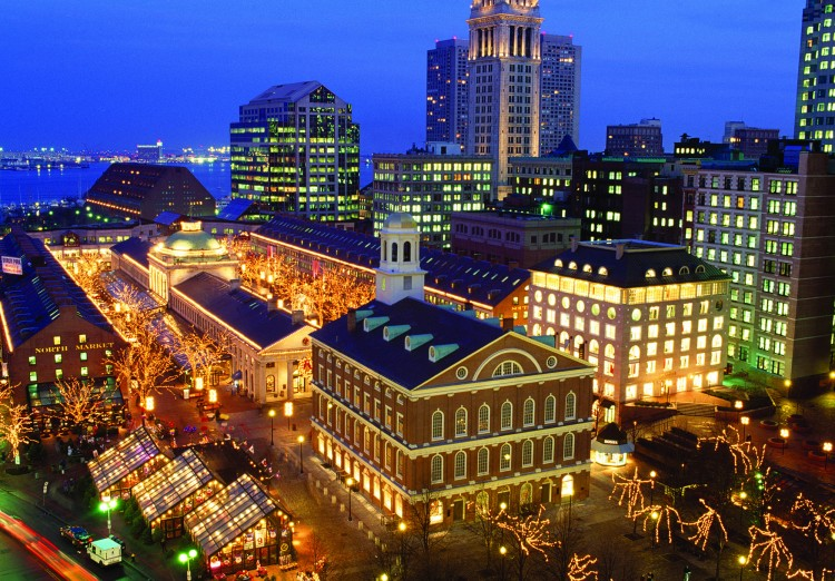 Boston aerial shot