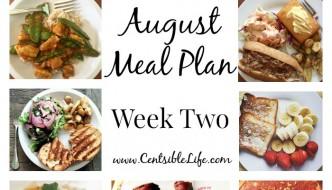 August Meal Plan: Week Two