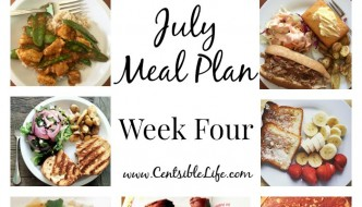 July Meal Plan: Week Four