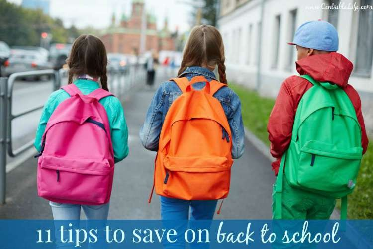 11 tips to save on back to school