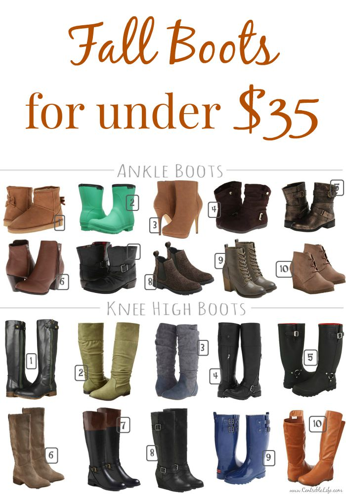 Fall Boots For Under $35 Pinterest