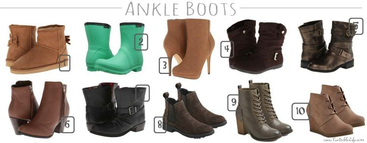 Fall ankle boots under $35