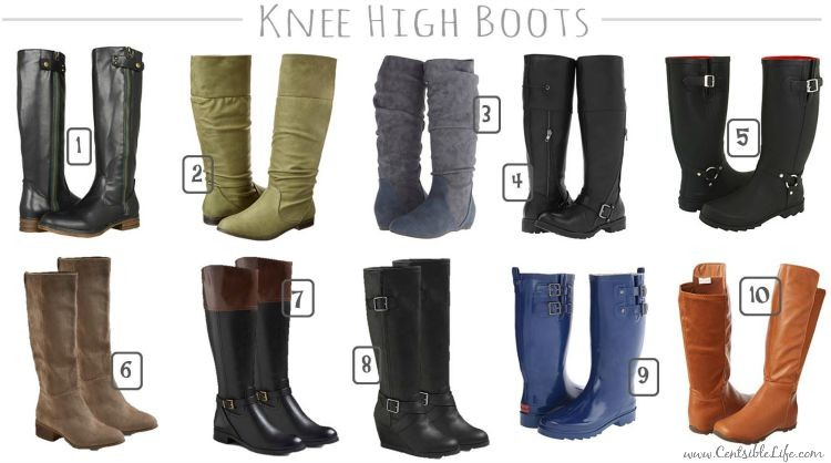 Knee-high fall boots under $35