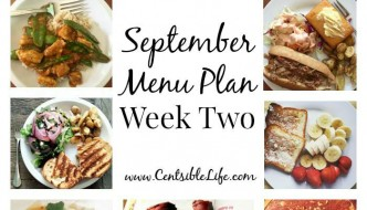 September Menu Plan: Week Two