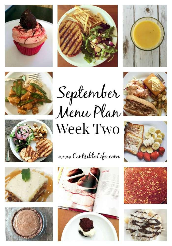September Menu Plan: Week Two