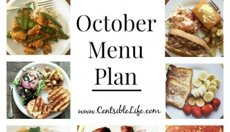 October Menu Plan