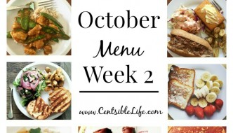 October Menu Plan: Week Two