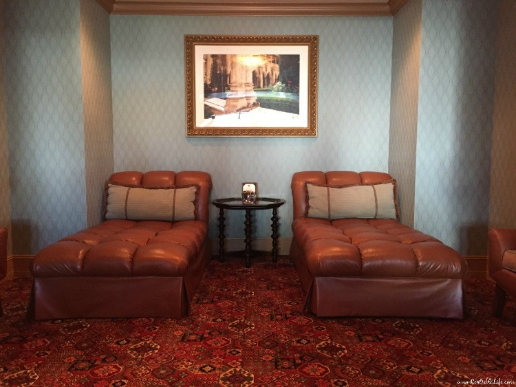 Oasis Chocolate chaise lounges The Spa At Hotel Hershey